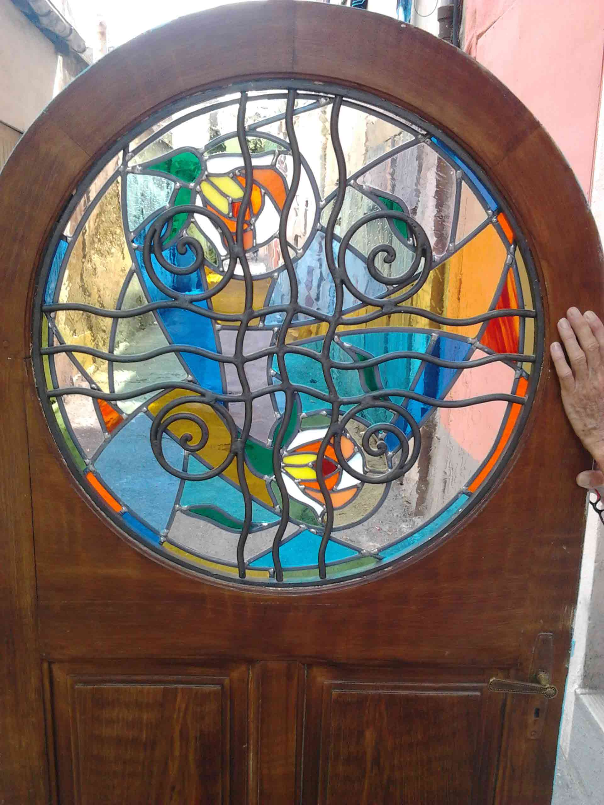 décoration vitrail porte 5