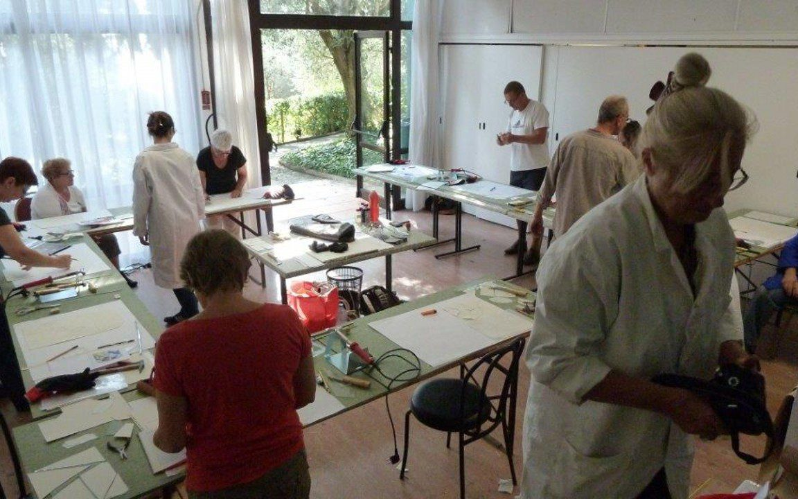 students working Grasse